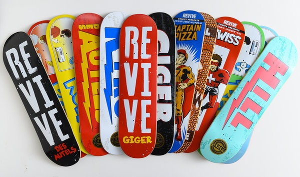 Revive Skateboards Europe - Vamos Skateshop / VMS Distribution. Get your Revive gear over at europe. Fast Shipping and fair prices. Revive Skate Board Decks, Clothing, Hardware and more. Andy Schrock. Red Lifeline Deck, VMS Distribution. Official european dealer.
