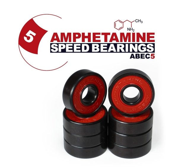 AMPHETAMINE SPEED BEARINGS - ABEC 5 inkl. Spacer + Sticker