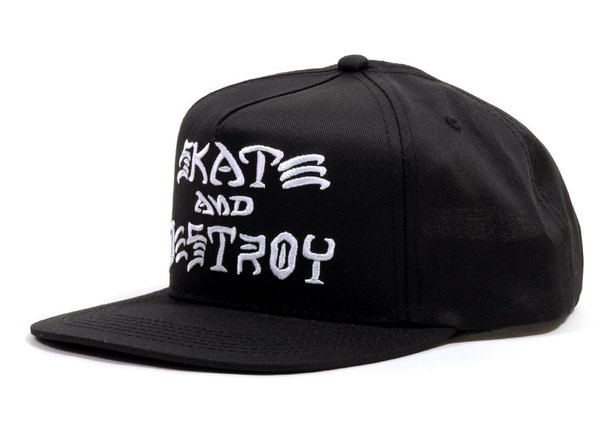 THRASHER - Skate And Destroy Snapback Black