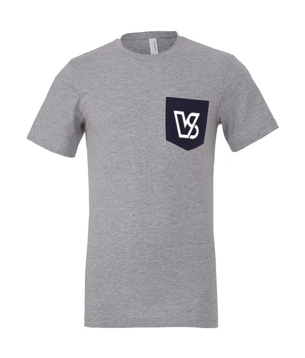 VAMOS VS POCKET TEE Grey/Navy (Only M & XXL Left)