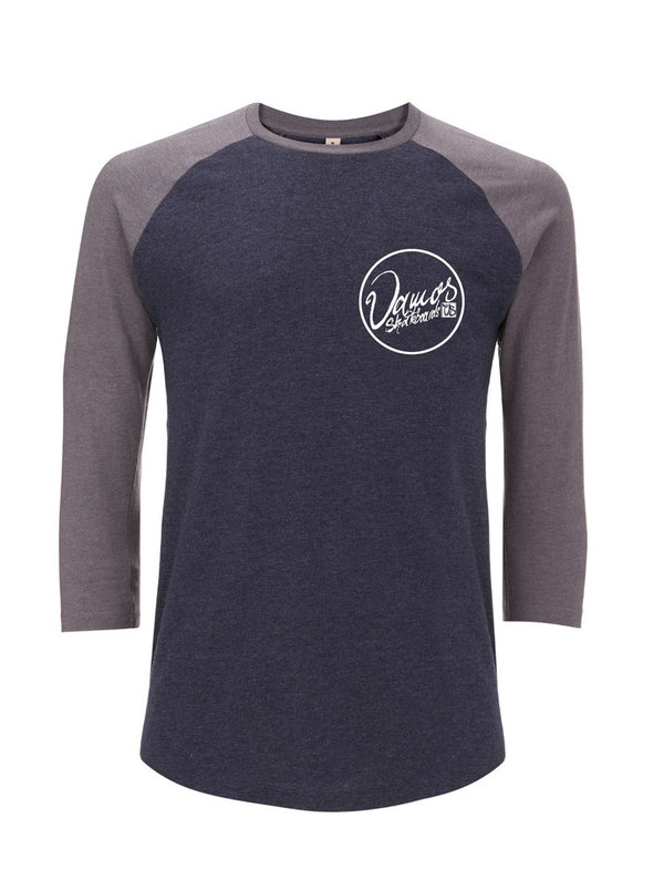 VAMOS DOUBLE SCRIPT RAGLAN Melange Navy & Heather (XL Left)