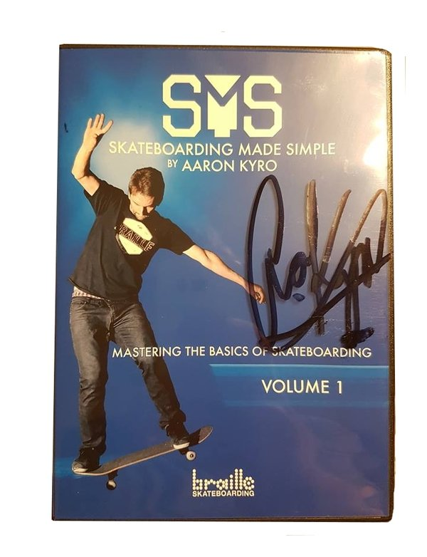 BRAILLE - SMS Skateboarding Made Simple Vol.1 DVD *SIGNED*