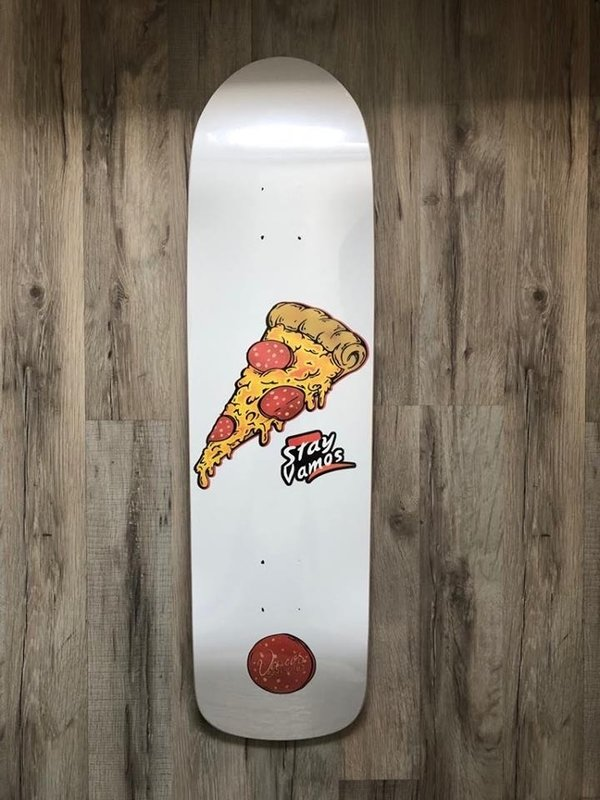 VAMOS SKATEBOARDS PIZZA OLDSCHOOL DECK - Bomb Shape 32x8.51""