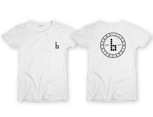 BRAILLE WHITE BRAILLE T-SHIRT (Sold Out)