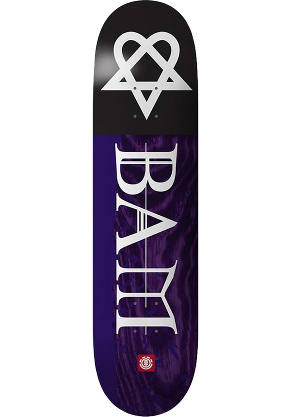 ELEMENT BAM MARGERA Heartagram Bats Deck 8.25""