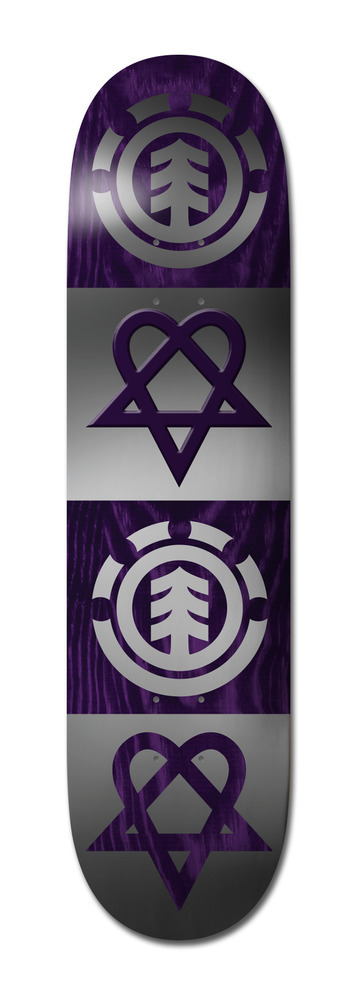 ELEMENT BAM MARGERA Heartagram Quad Deck 8.00""