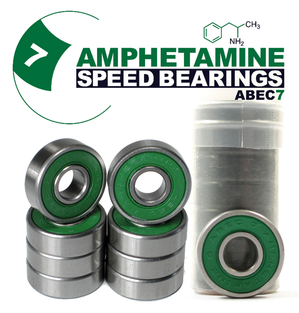 AMPHETAMINE SPEED BEARINGS - ABEC 7 (8-Ball) BULK