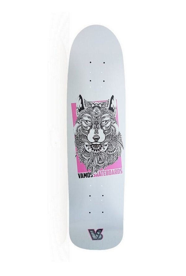 VAMOS SKATEBOARDS WOLF OLDSCHOOL DECK - Bomb Shape 32x8.55""