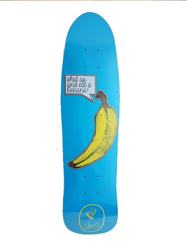 VAMOS SKATEBOARDS BANANA OLDSCHOOL DECK - Fish Shape 32x8.55""