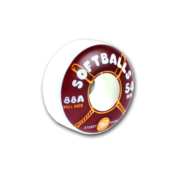 mob Skateboards WHEELS SOFTBALLS 54mm 88A