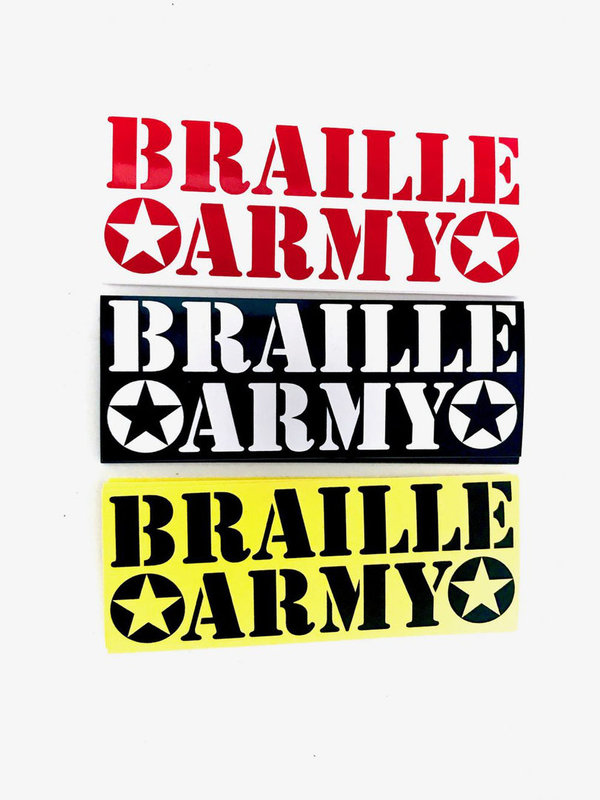 BRAILLE ARMY Sticker Pack (3 Stk.)