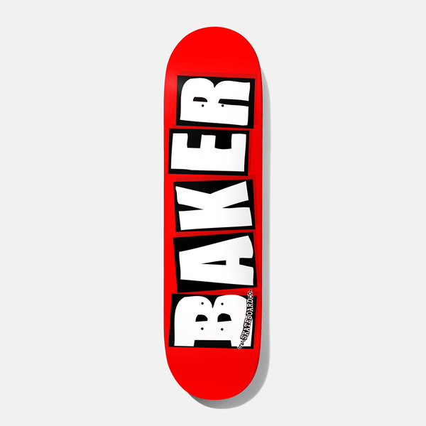 "BAKER BRAND LOGO Deck 8,00"" white/red"