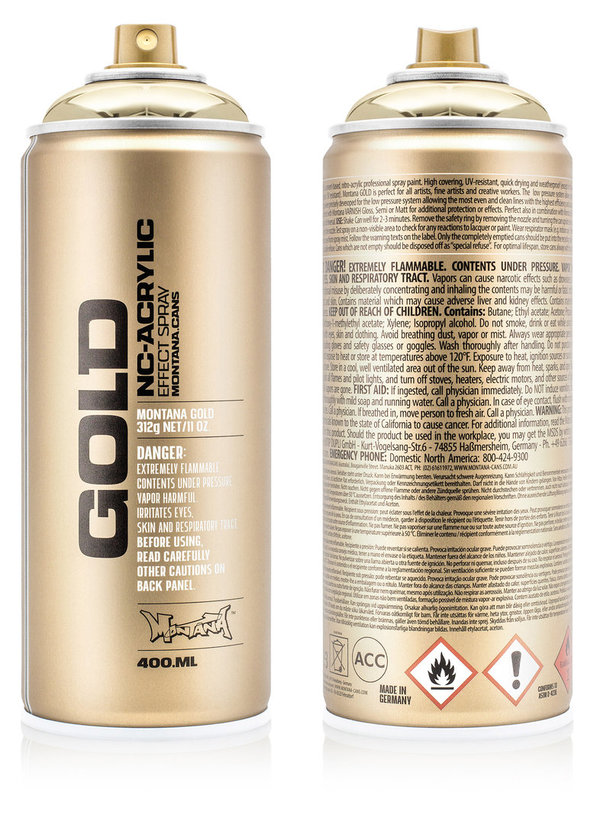 Montana GOLD 400ml - Chrome Effect Colors M 1000 Silverchrome