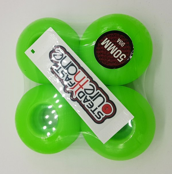 STEADFAST NEON GREEN WHEELS 50mm 99A