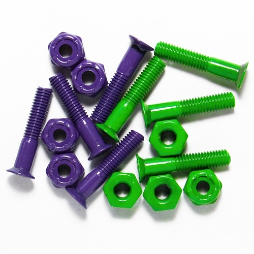 "1"" KREUZ HARDWARE SET Purple/Green"