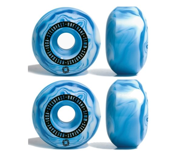 STEADFAST SWIRL WHEELS Blue/White 51mm 100A