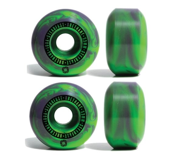 STEADFAST SWIRL WHEELS Purple/Green 53mm 100A