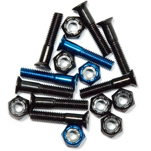 "1"" KREUZ HARDWARE SET Black/Blue"