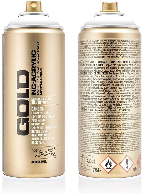 Montana GOLD 400ml - SHOCK 9100 White