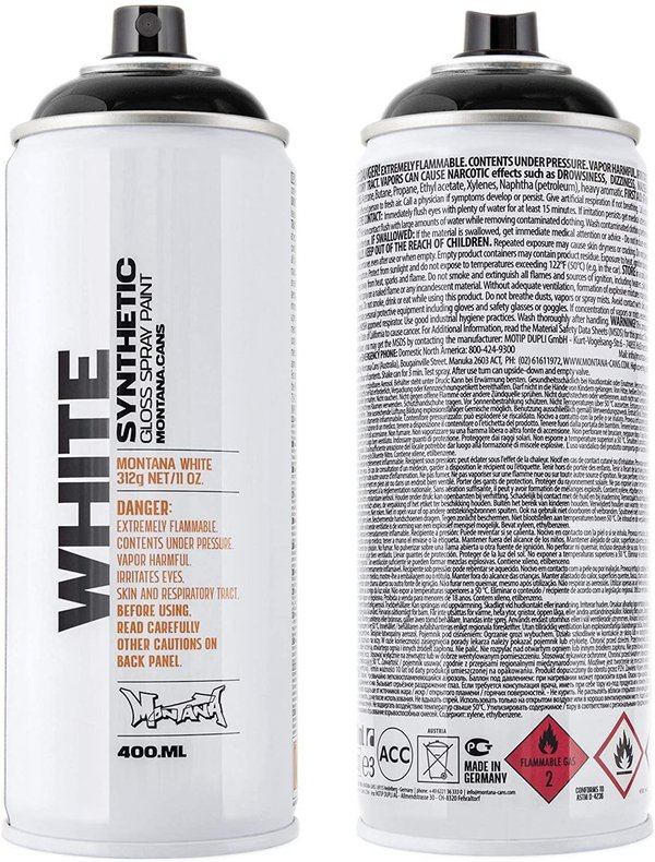 Montana WHITE 400ml WHT 9000 Black