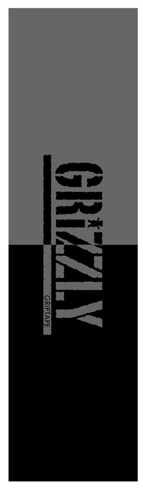 GRIZZLY SPLIT STAMP Black Griptape
