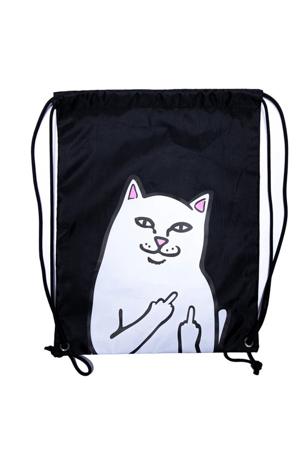RIPNDIP Lord Nermal Drawstring Bag Black